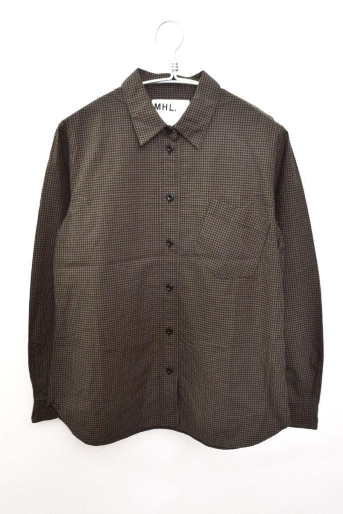 2016SS/斜めポケット ギンガムチェック レギュラーカラーシャツ