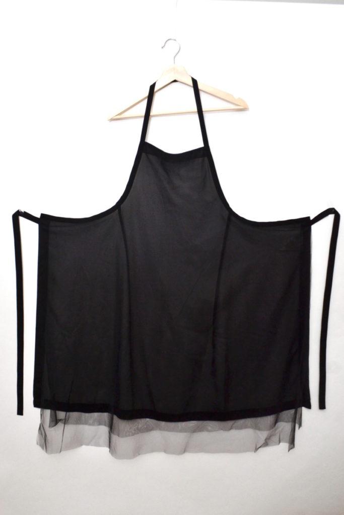 AD2018 18AW/2重チュール エプロン ドレス