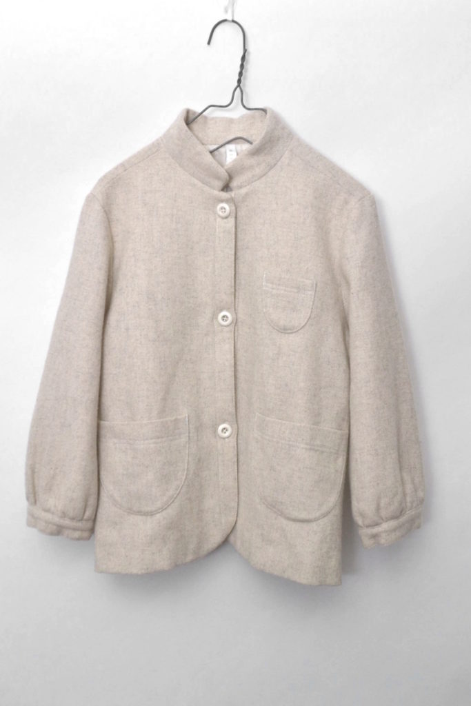 アンゴラ混紡 ウールスタンドカラージャケット
