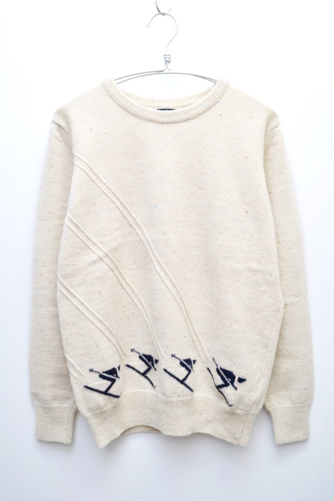 スキー柄 クルーネック ネップニットセーターの買取実績画像