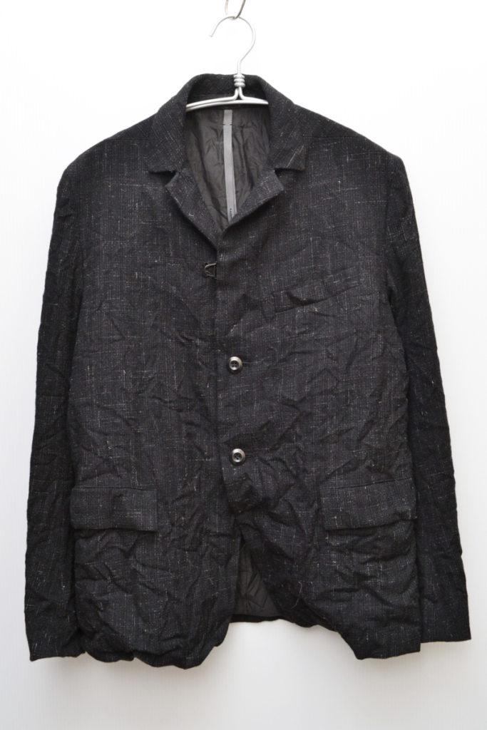 ウールヘンプ絣ギャバテーラードジャケット