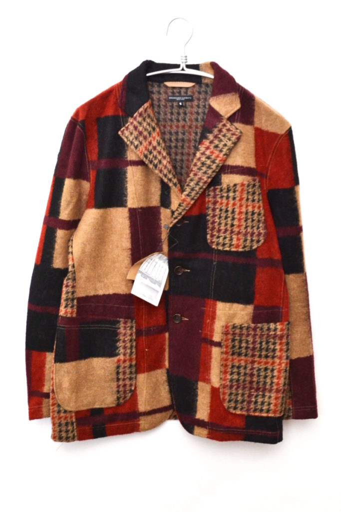 2018AW/ Knit Jacket – Gun Club Multi Check Knit ニットジャケット