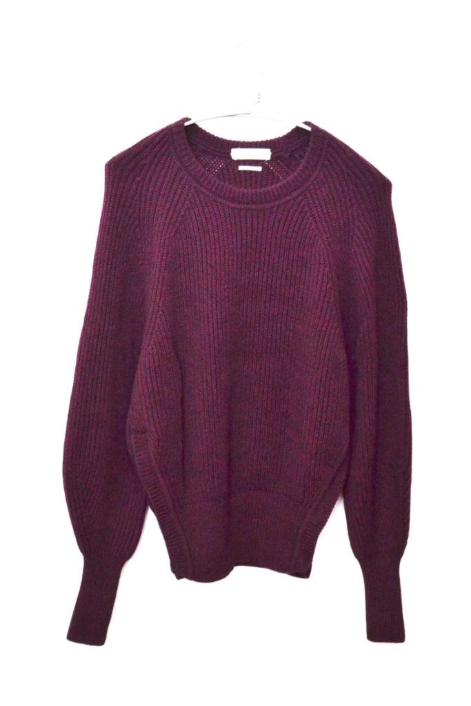 ボリュームスリーブ リブニットセーターの買取実績画像