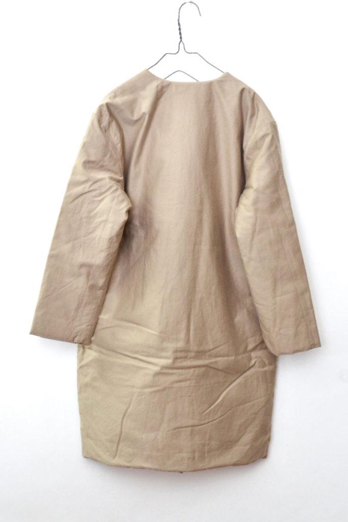 2018aw/padding coat パディングコート コットン中綿 ノーカラーコートの買取実績画像