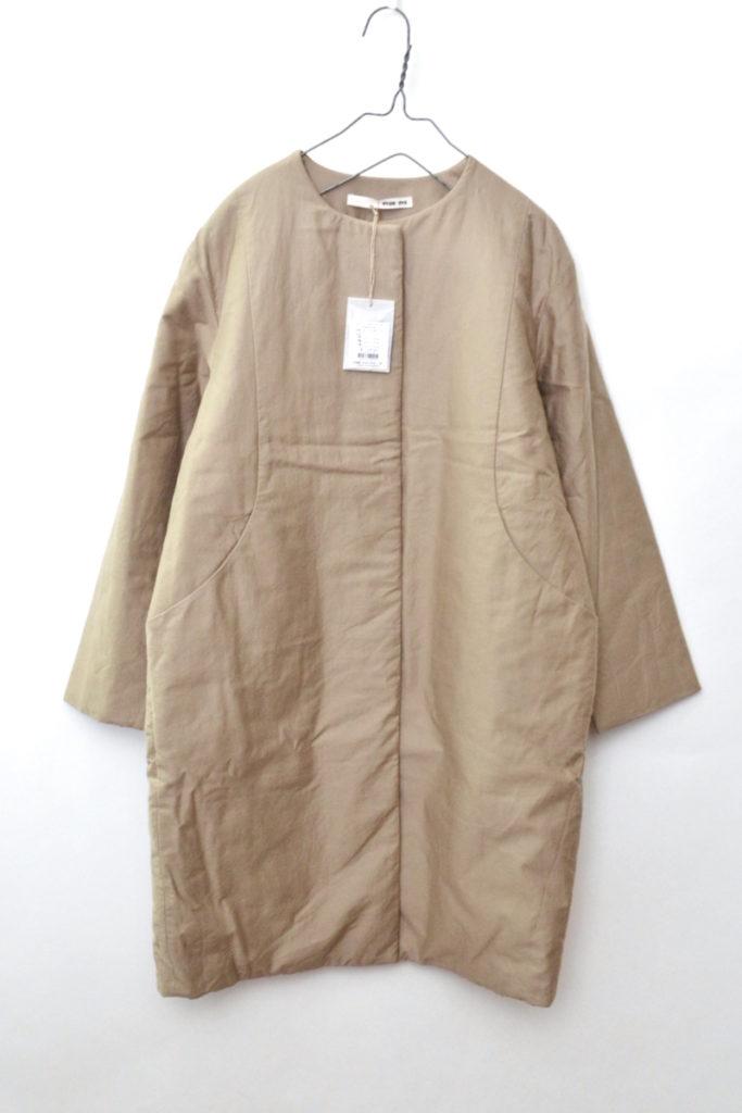 2018aw/padding coat パディングコート コットン中綿 ノーカラーコート