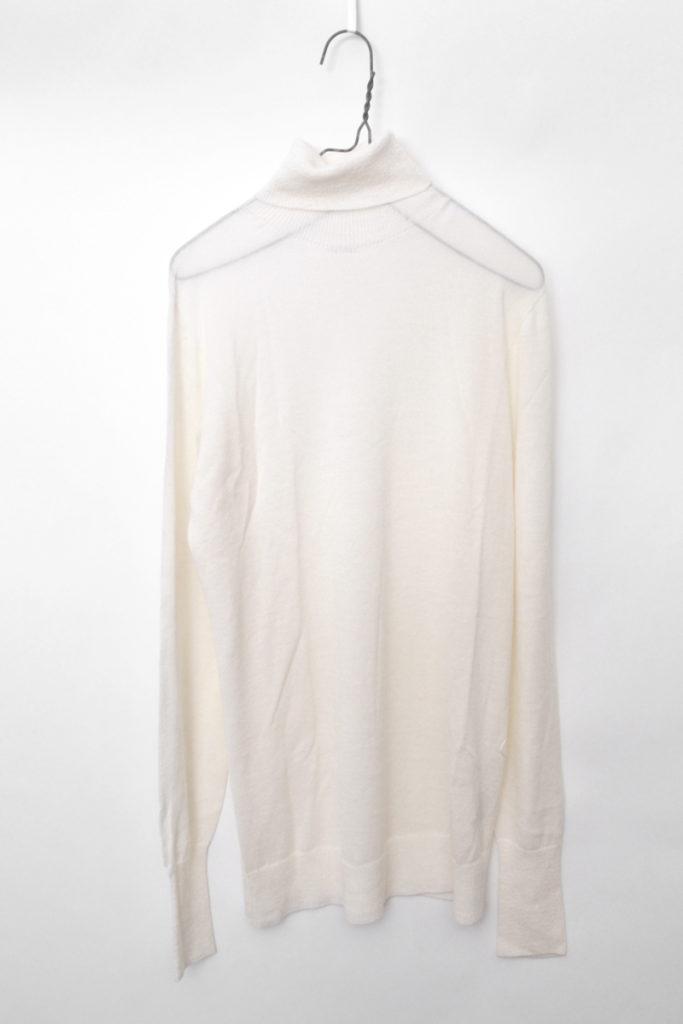 "Turtle-neck Pullover "" vm21xk01 シルク カシミア混紡 ハイゲージ タートルネックニット"