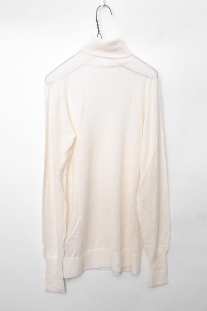 """Turtle-neck Pullover """" vm21xk01 シルク カシミア混紡 ハイゲージ タートルネックニットの買取実績画像"""