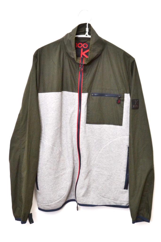 ×KARRIMOR ◆Technical Zip Sweatshirt オイルドクロス スウェット切替ジャケット