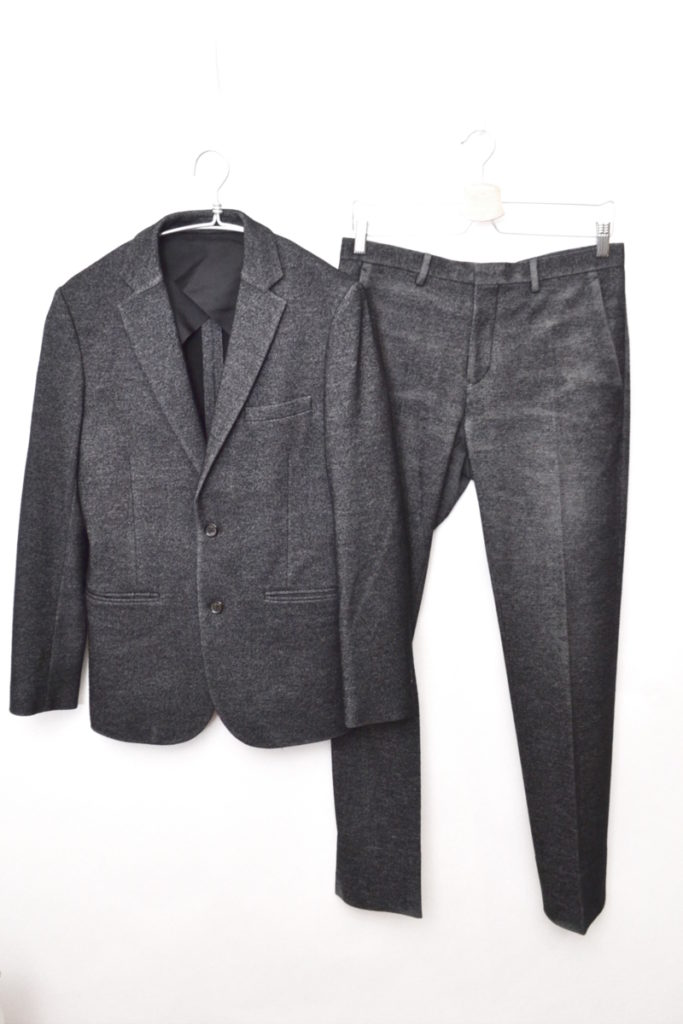2B ウールフランネル スーツセットアップ ジャケット パンツ