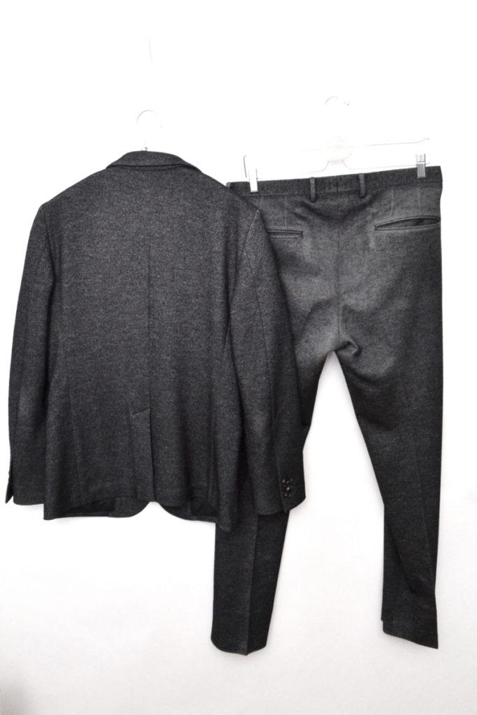 2B ウールフランネル スーツセットアップ ジャケット パンツの買取実績画像