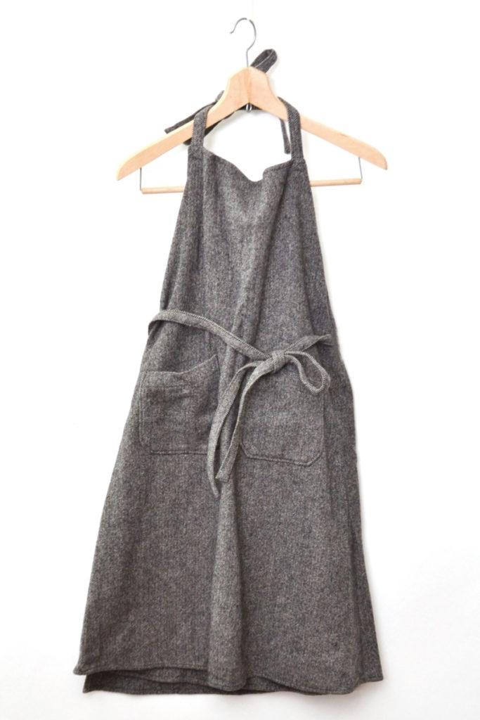 ヘリンボーンツイード 巻きジャンパースカート