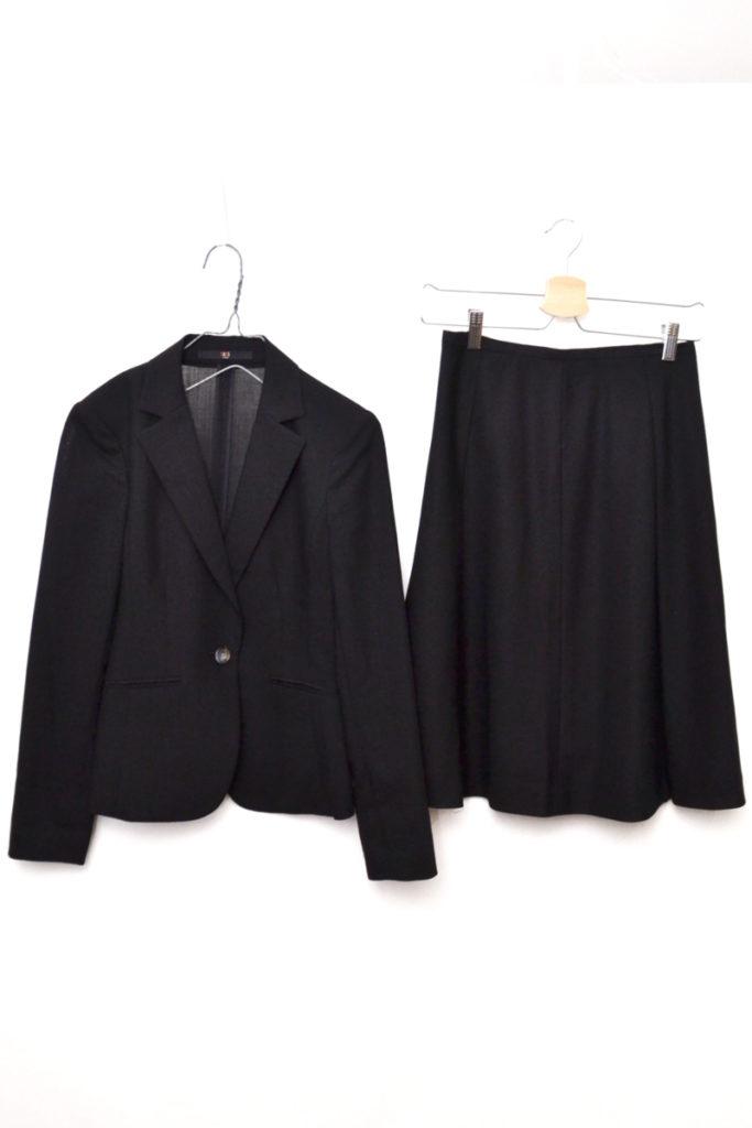 モヘヤ シルク混紡 スカート スーツ セットアップ