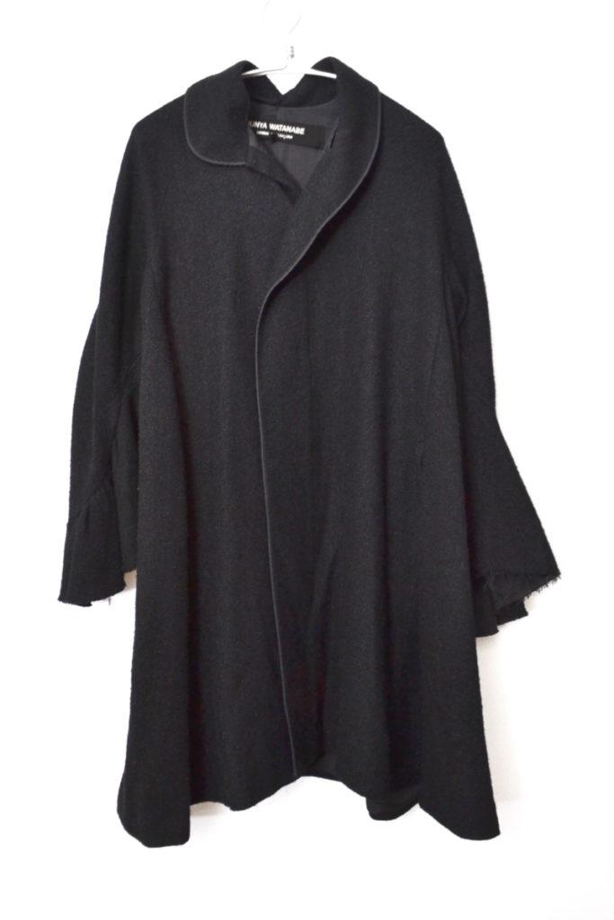AD2002 02AW/変形襟 ウール ワイドシルエット コート
