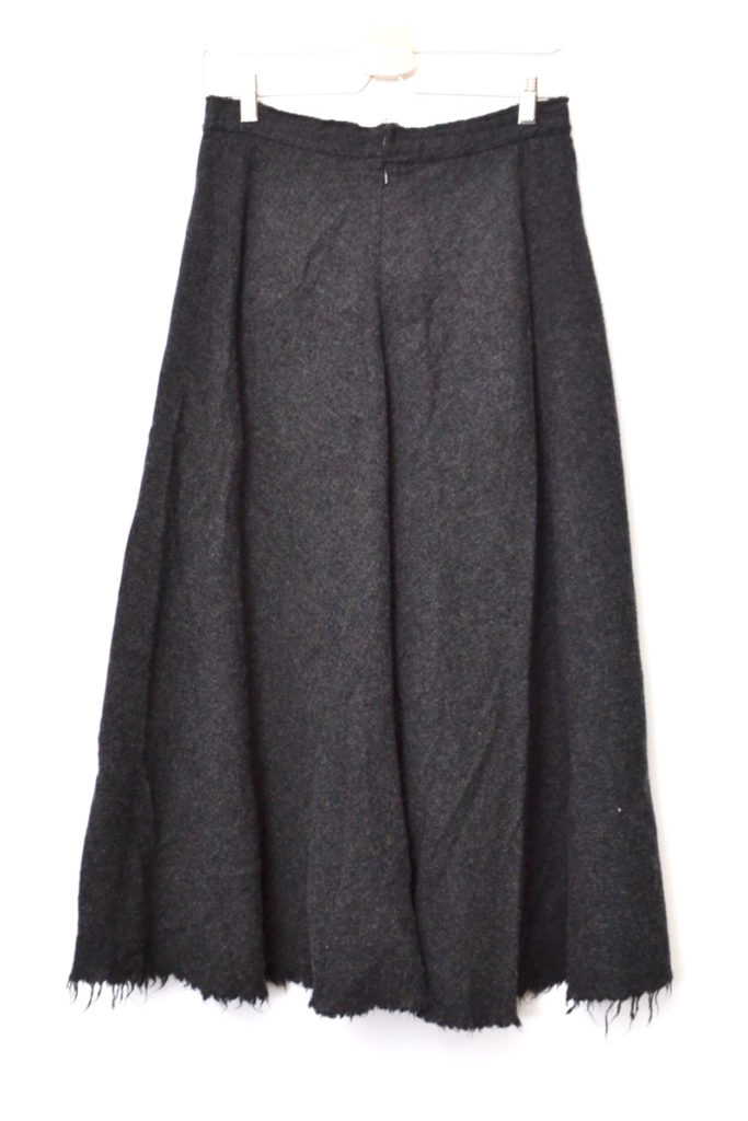 AD2003 03AW/縮絨ウール リボン カットオフ スカートの買取実績画像