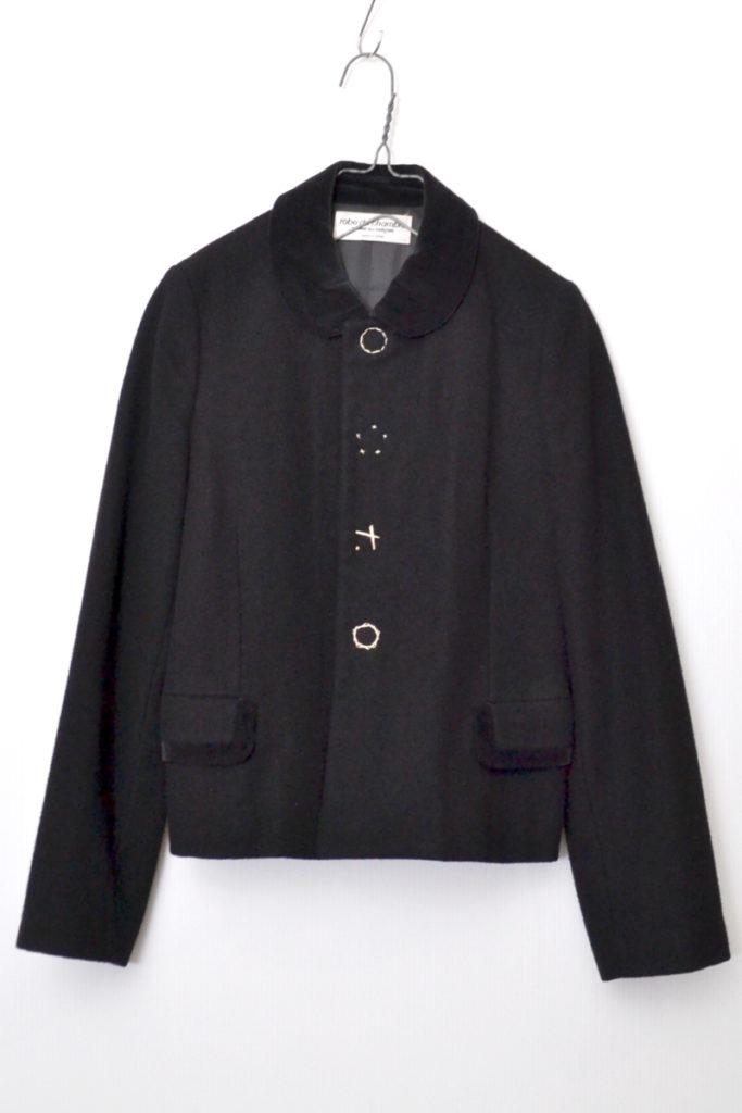 AD2000/ベロア丸襟 メルトンスナップジャケット