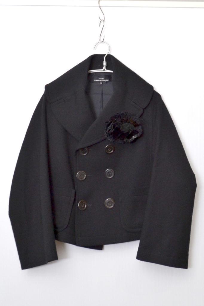 AD2006 06AW/ ビッグカラー ウール ショートコート ジャケット
