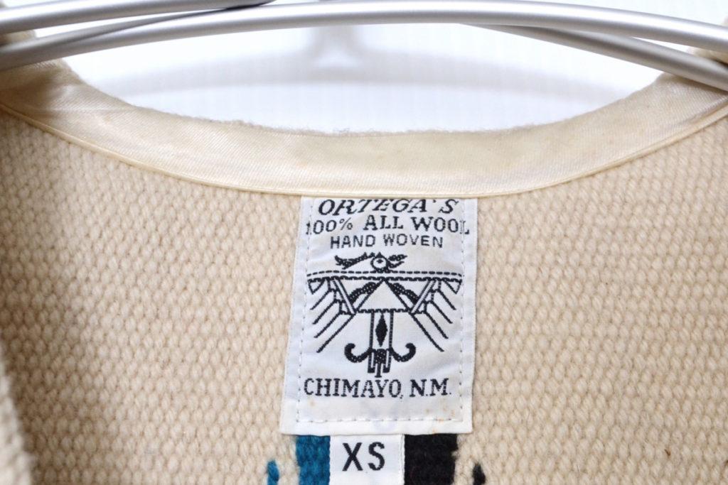 ウール ネイティブ柄 チマヨベストの買取実績画像