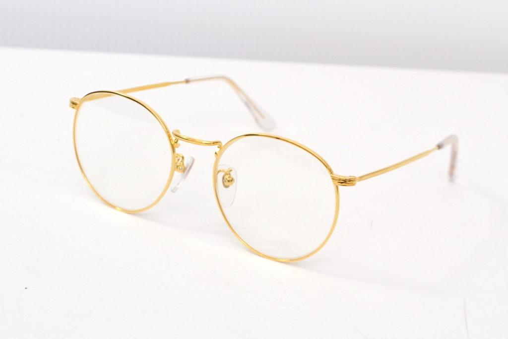 ラウンドメタル 伊達眼鏡 メガネ