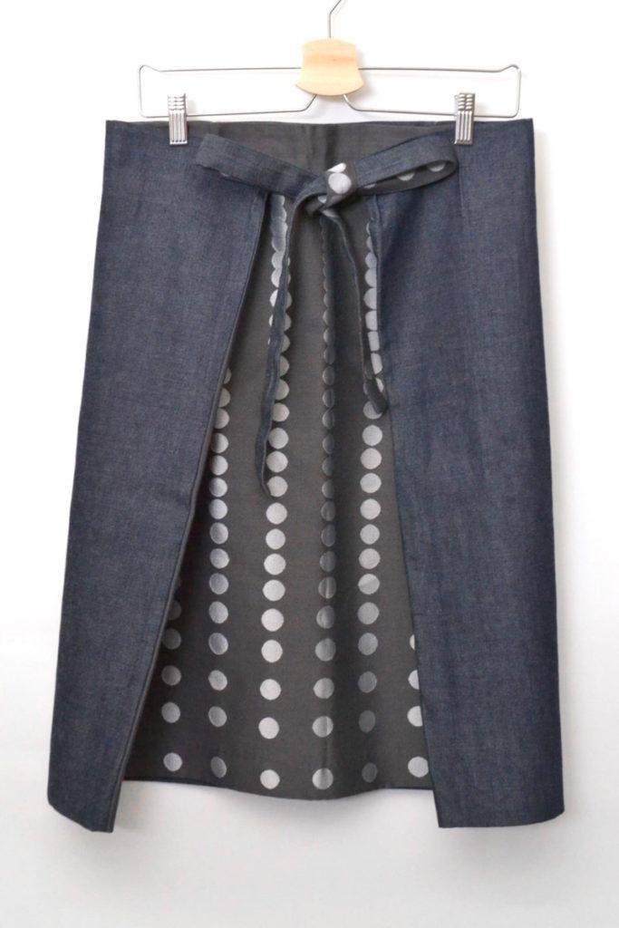 × MATRIOCHKA ◆ 初期 ドット デニム 切替 ラップスカート