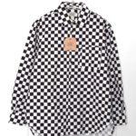 CHECKERS PRINT COTTON BROAD L/S BIG SHIRT チェッカーズプリント ビッグシャツ