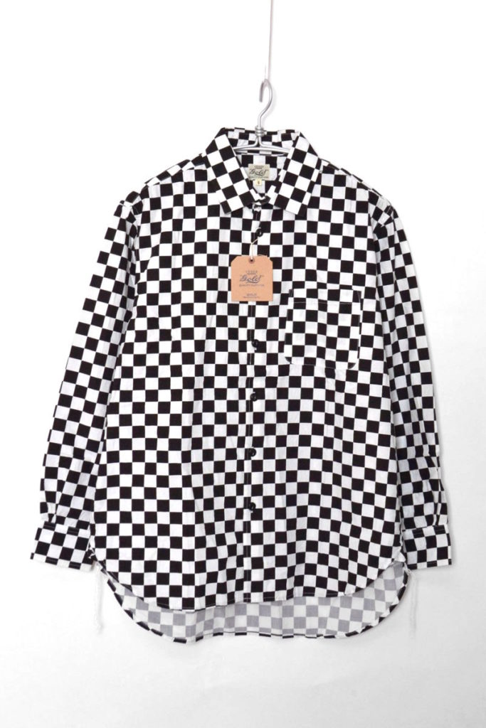 CHECKERS PRINT COTTON BROAD L/S BIG SHIRT チェッカーズプリント ビッグシャツの買取実績画像