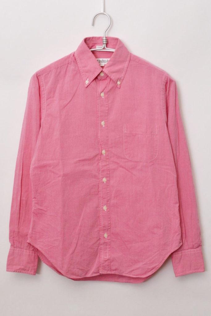 シャンブレーBDシャツ