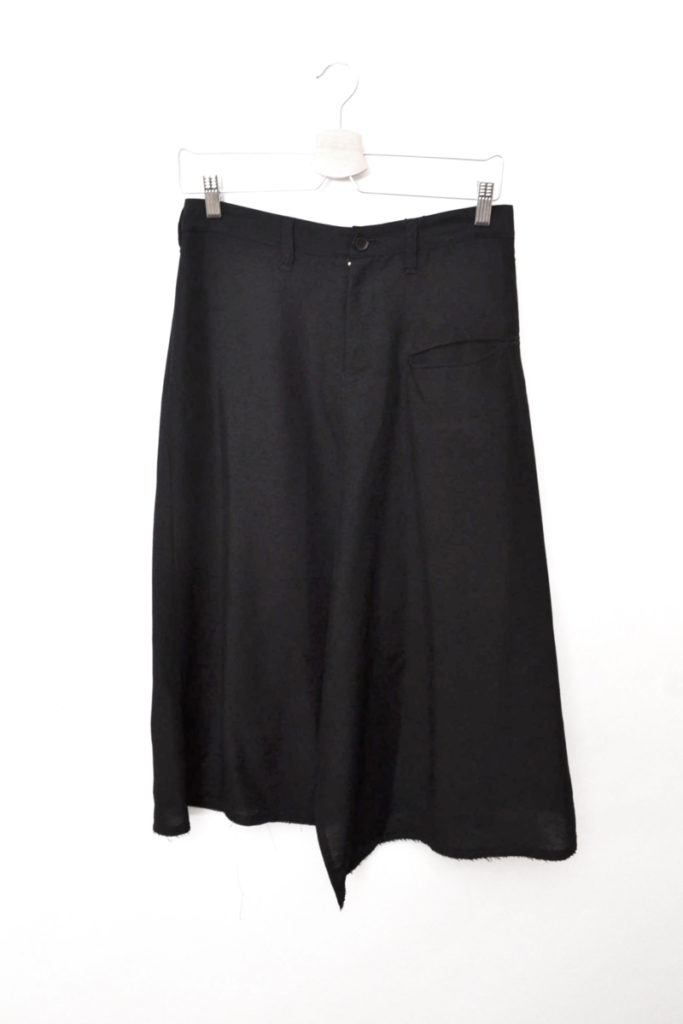 2010SS/シルク混紡ウールギャバジン 前スリット スカート