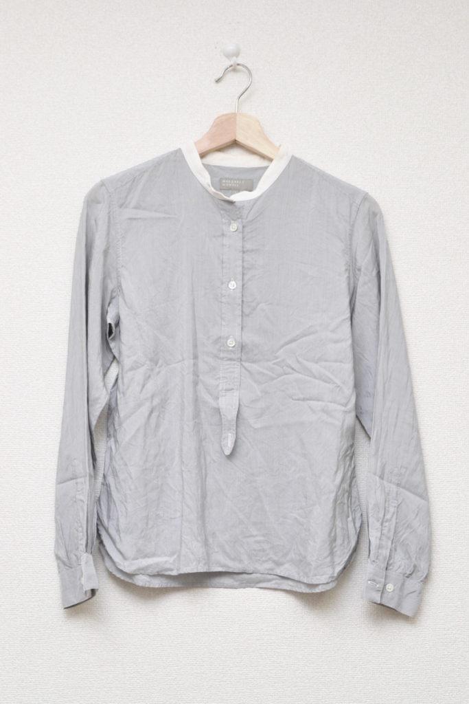 2014SS/ シルク バンドカラーシャツ
