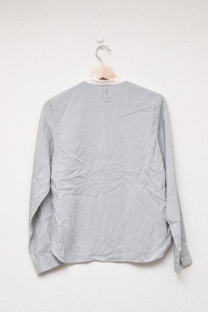 2014SS/ シルク バンドカラーシャツの買取実績画像