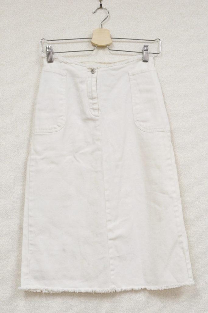 2002SS/カットオフ ホワイトデニムスカート