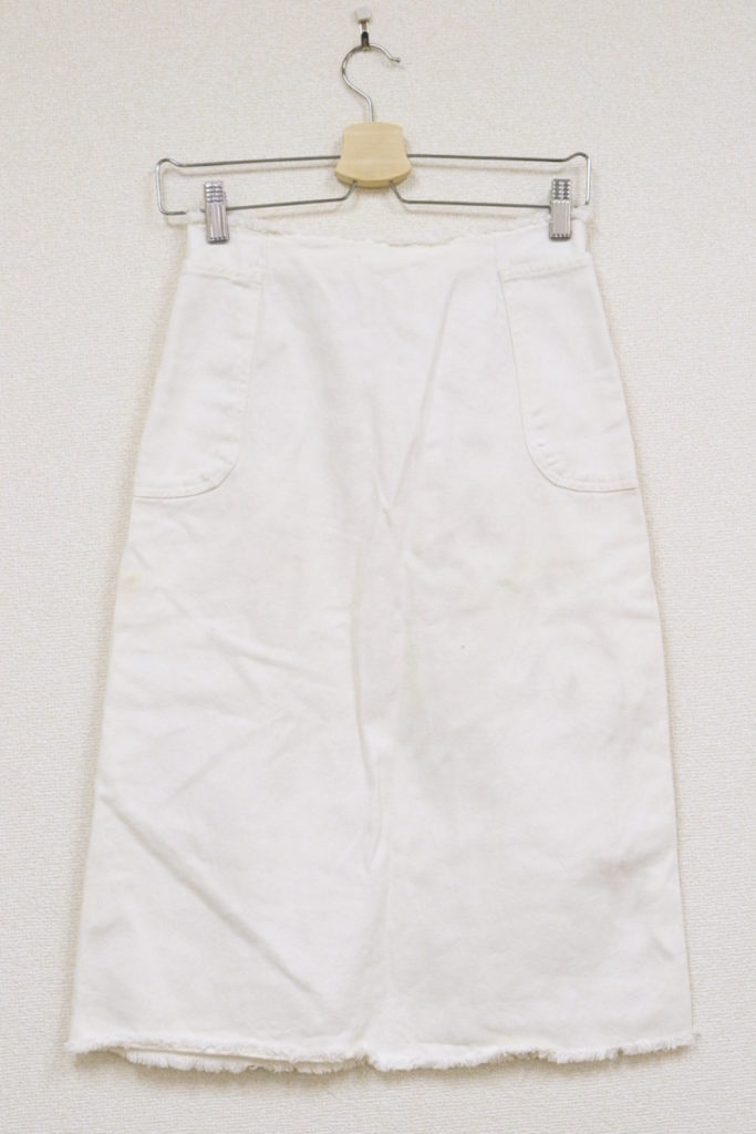 2002SS/カットオフ ホワイトデニムスカートの買取実績画像