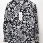 2016SS/Sea L/S Collar Band Shirt 総柄バンドカラーシャツ