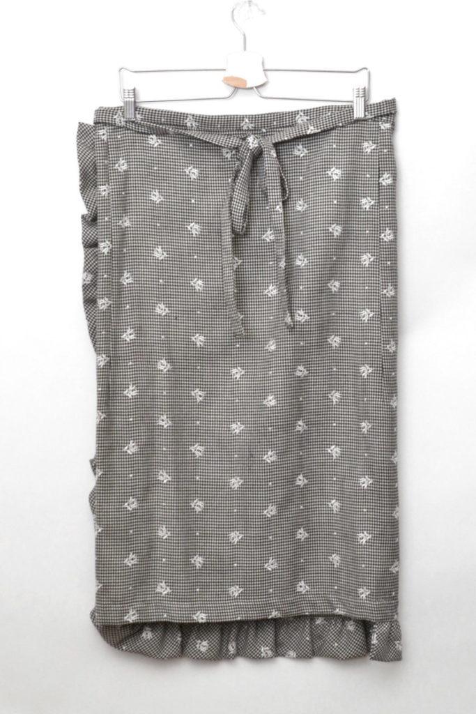 2001AW/ウール刺繍 千鳥格子柄 ラップスカートの買取実績画像