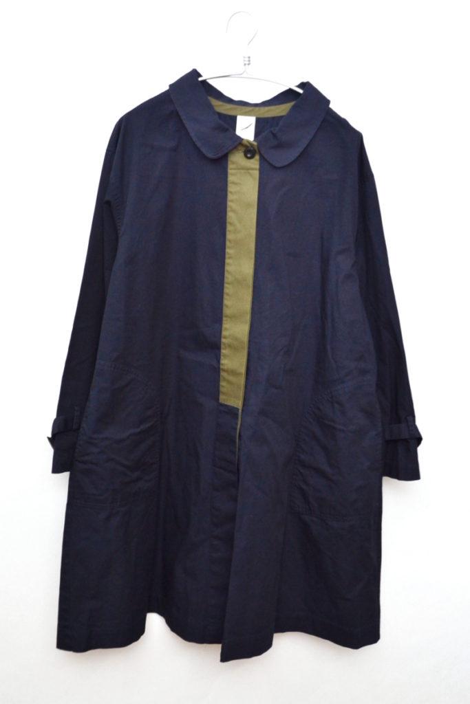 パオロコート 配色ステンカラーコート