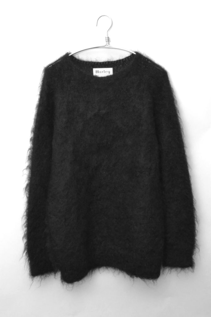 モヘア混紡 クルーネックプルオーバーニット セーター
