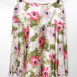 シルク 花柄 スカート