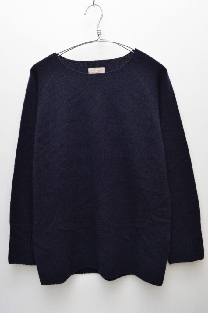 ウール カシミヤ シルク クルーネックニットセーター