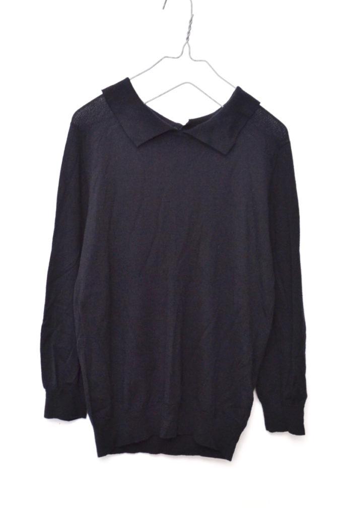 × John Smedley ◆ 2016/ウール バックボタン襟付き ニット セーター