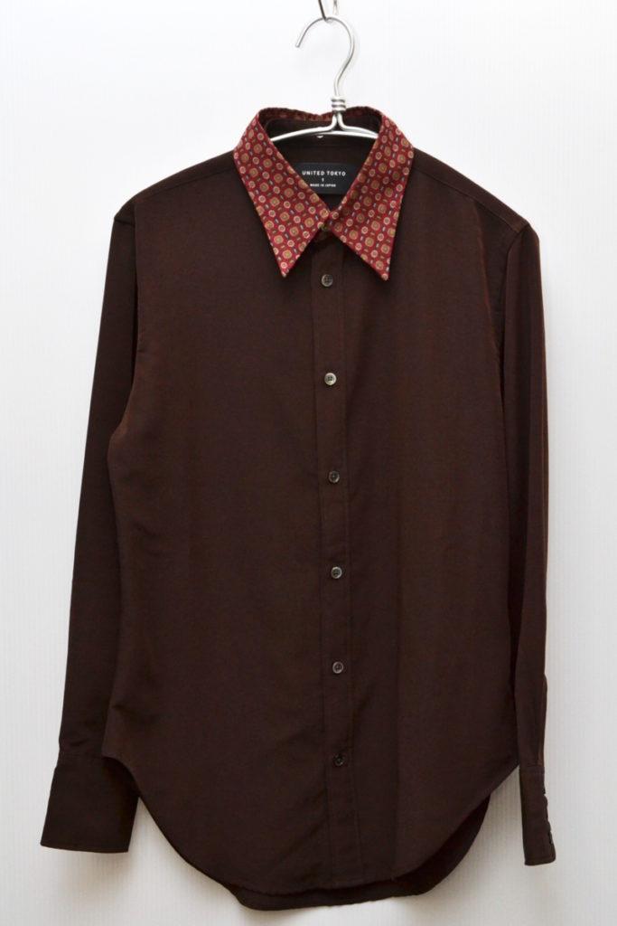 デチャッタブルカラー 長袖シャツ