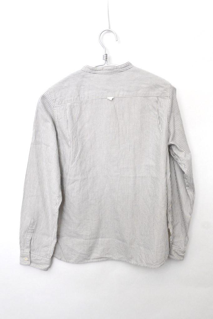 コットンウール ヒッコリーストライプ バンドカラーシャツの買取実績画像