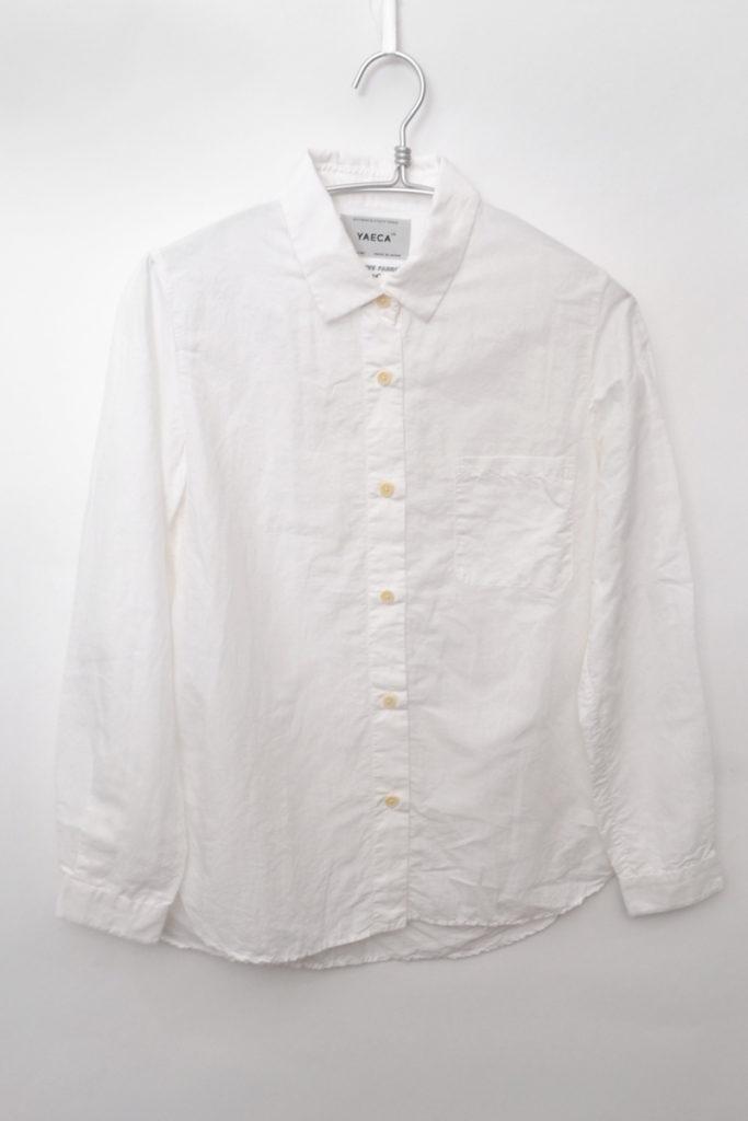 shirt regular collar コットンリネン レギュラーカラー シャツ