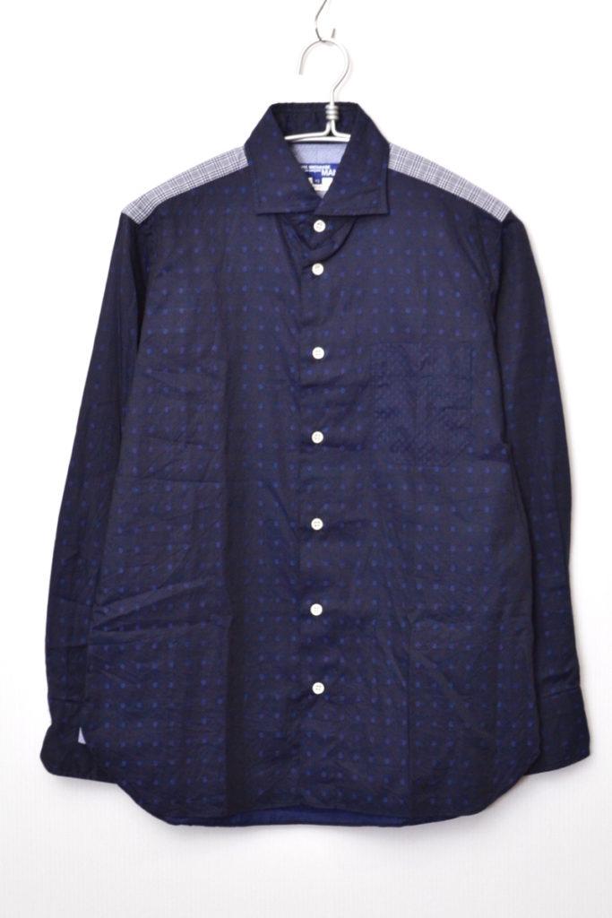 AD2016 16AW/ ドット グレンチェック切替 シャツ