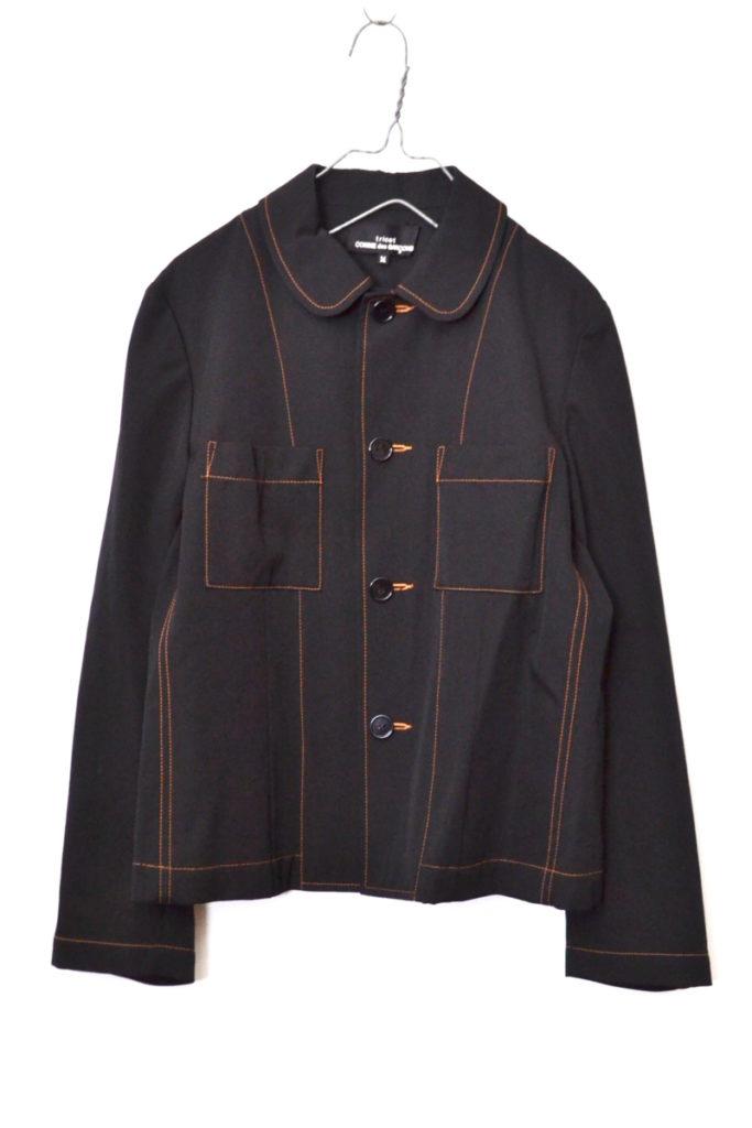 AD2000/ ウールギャバジン 丸襟 シャツジャケット