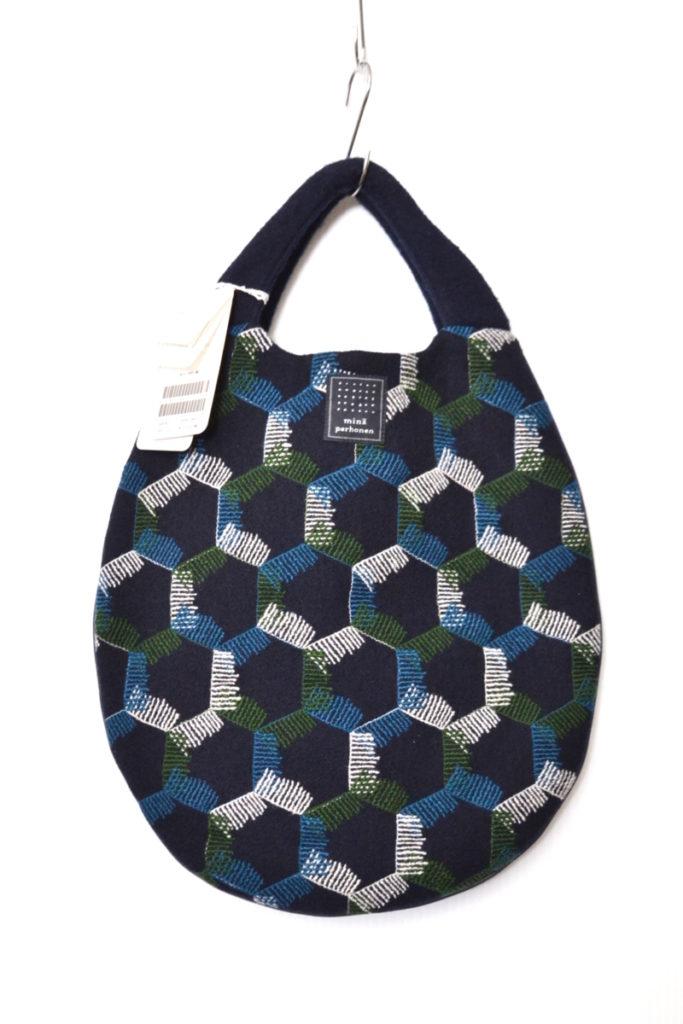 2017AW/snowflake エッグバッグ ウール 刺繍 ハンドバッグ