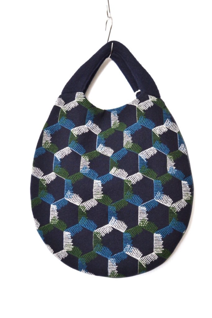 2017AW/snowflake エッグバッグ ウール 刺繍 ハンドバッグの買取実績画像