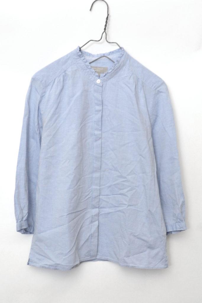 フリルカラー 七分袖シャツ