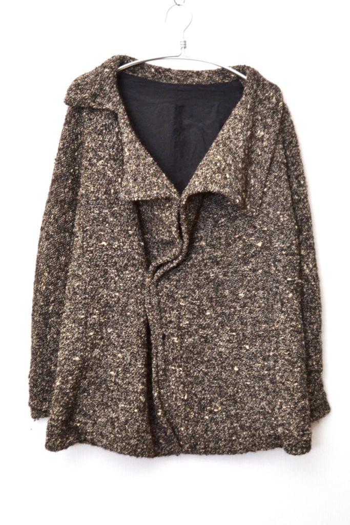 2015AW/ アルパカ混紡 ニット 変形 ショート コート