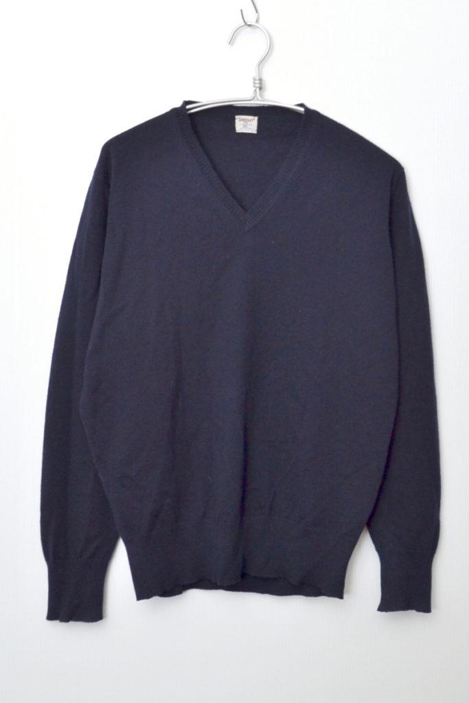ヴィンテージ バードマークタグ メリノウール Vネックニット セーター