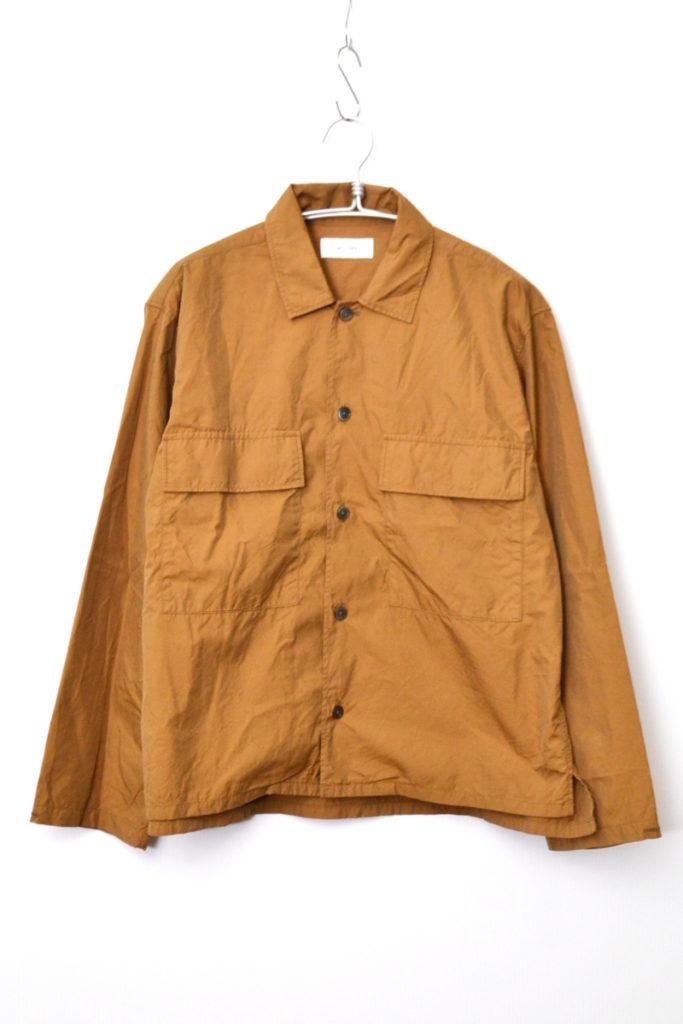 2019SS/ Flap Pocket Boxy Shirt コットンシルク ボクシー シャツ