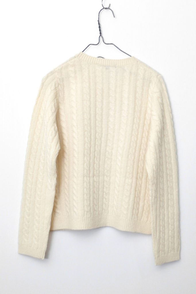 カシミヤ混紡 ケーブル編み ニット カーディガンの買取実績画像